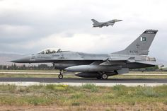 Anatolian Eagle 2016: Konya is normally enjoys good weather throughout the spring and summer, but for several days during this year's exercise, the weather was unseasonably cold and windy, more like Northern Europe. However, the missions continued. A Pakistan air force F-16 is pictured taxiing out while a counterpart from Turkey departs. Photo:  Tony Osborne/AW&ST