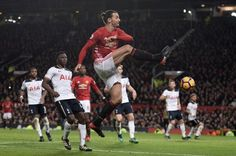 Manchester United's Swedish striker Zlatan Ibrahimovic crosses the ball during the English Premier League football match between Manchester United. English Premier League, Football Match, Man United, Manchester United, The Unit, Sports, Pictures, Crosses, Lost