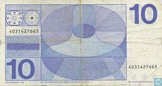 Bankbiljetten - Erflaters II - Nederland 10 gulden 1968 misdruk met kruis