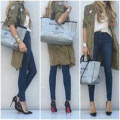 Instagram: UpCloseAndStylish: Vince Top, Zara Coat, L'agence denim, Louboutin Pigalle follies, Chanel bag -->UpCloseAndStylish
