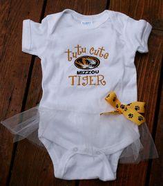 TuTu Cute Mizzou Tiger Bodysuit by lsembroidery on Etsy, $14.00