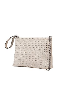 White Studded Clutch  by Melie Bianco....summer chic