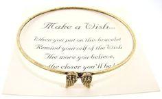 Amazon.com: Make a Wish Gold Antiqued Bracelet - (Angel Wings): Everything Else