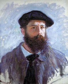 Autoportrait de Claude Monet coiffé d'un béret (C Monet - W 1078),1886.