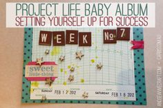 Project Life Baby Album :: Setting Yourself Up For Success - And Sew We Craft