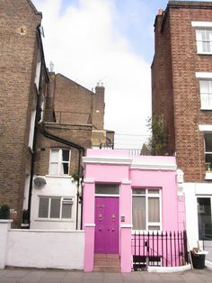 little pink house in london, england