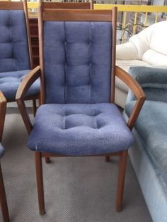 Teak Upholstered Dining Chairs On Kijiji Montreal