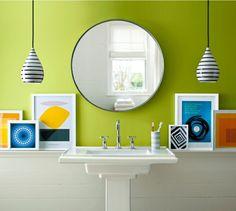 Optional kann die Wand im Bad nicht gefliesst, sondern mit Farbe gestrichen werden
