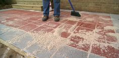 How to Lay a Paver Patio class = I'm going to do this this spring/summer