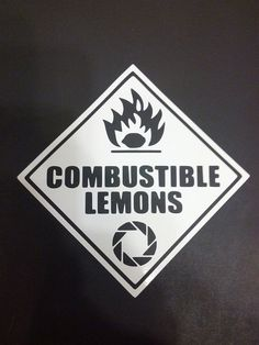 Portal Car Vehichle Decal  Combustible Lemons  by JustAnAwesomeMom, $4.00