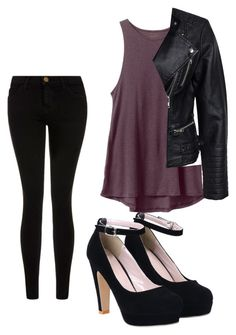 """""""Vampire"""" by sabina996 on Polyvore featuring Current/Elliott, RVCA, Sisters Point, women's clothing, women's fashion, women, female, woman, misses and juniors"""