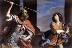 """Saul Attacking David"" by Guercino, (Galleria Nazionale d'Arte Antica, Rome)."