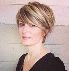 Long Pixie Haircut for Older Women