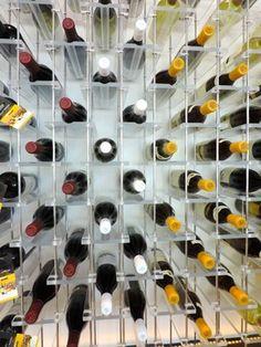 Elevate wine display contemporary-wine-cellar