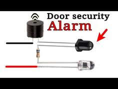 Door security alarm system - YouTube Electronics Projects For Beginners, Electronics Mini Projects, Electronics Basics, Cool Electronics, Basic Electronic Circuits, Electronic Circuit Design, Electronic Schematics, Basic Electrical Wiring, Electrical Circuit Diagram