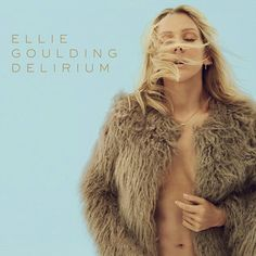Ellie Goulding Delirium Album Cover THE TYPOGRAPHY WORKS WELL AND IS POSITIONED IN AN EASILY ACCESSIBLE POSITION TO GIVE THE KEY INFORMATION TO THE AUDIENCE, HOWEVER I FEEL THIS COVER COULD HAVE BEEN FURTHER DIGITALLY MANIPULATED TO ADD VISUAL VARIETY