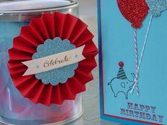 A birthday card and bucket I made.