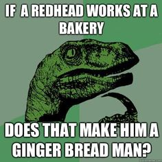 Bakery redhead red-head gingerbread man
