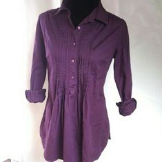 Motto plum long pleated blouse Model size small plum colored long pleated blouse great with leggings or skinny jeans and boots very cute and trendy shirt. Please ask questions, posh has no fitting room. Motto Tops Blouses