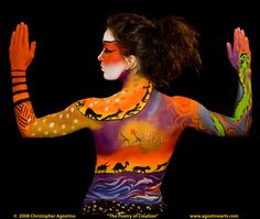 "body painting animalbody agostinoarts ""The Poetry of Creation"" back"