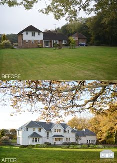 New England extending and remodelling in West Sussex by Back to Front Exterior Design Home Exterior Makeover, Exterior Remodel, Dream Home Design, House Design, House Makeovers, Facade House, House Exteriors, Dream House Exterior, Exterior Design