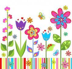 Flower Garden Clip Art | FLOWER CLIP ART: Collection of 150