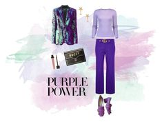 """""""Untitled #1"""" by alxqgarcia ❤ liked on Polyvore featuring Gucci, Michael Kors, UNCONDITIONAL, Amarilo, purple, blazer, pants, gucci and purplepower"""