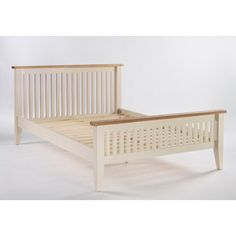 Dove 5ft Standard King-Size Bed Frame In Ivory and Ash