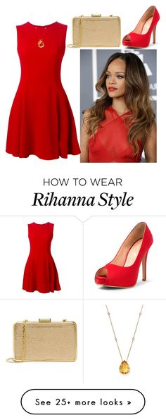 """Red and Gold"" by grateful-angel on Polyvore featuring MICHAEL Michael Kors, Dolce&Gabbana and Bloomingdale's"