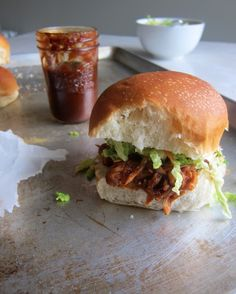Cupcakes and Kale: Homemade BBQ Sauce + BBQ Pulled Jackfruit Sandwiches