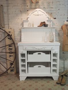 Painted Cottage Chic Shabby White Romantic by paintedcottages, $495.00