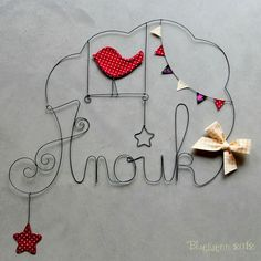 so cute to wire the name!