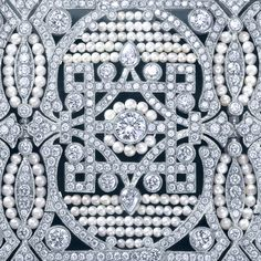 A bracelet of diamonds and seed pearls from The Great Gatsby Collection, inspired by Baz Luhrmann's film in collaboration with Catherine Martin.