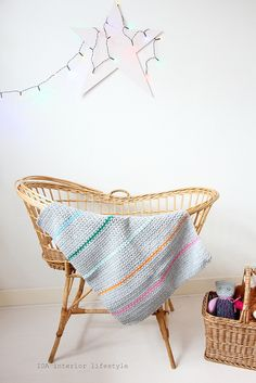 Vintage cradle and baby blankets by IDA Interior LifeStyle, via Flickr
