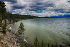 Yellowstone Lake in the National Park, Wyoming