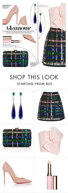 """""""Glamour"""" by yurisnazalieth ❤ liked on Polyvore featuring Anabela Chan, Elie Saab, Delpozo and Christian Louboutin"""