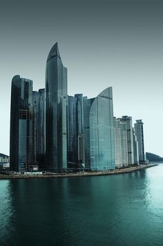 Korea - Busan's skyline Busan South Korea, South Korea Travel, Korean Peninsula, Daejeon, Skyline, Belle Villa, Amazing Buildings, Thinking Day, Places