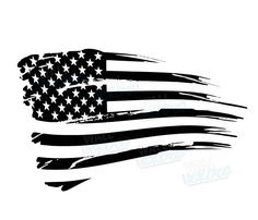 Rustic American Flag Decal