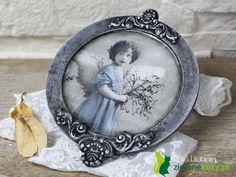 decoupae angel vintage, winter christmas picture