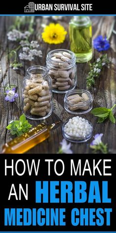You can take care of many ailments by stocking the ingredients in an herbal medicine chest. Combine them to make healing salves, poultices, and oils. Natural Health Remedies, Natural Cures, Natural Healing, Herbal Remedies, Natural Treatments, Holistic Healing, Holistic Remedies, Cold Remedies, Natural Foods