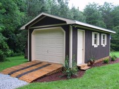 shed plans for gable, barn, salt box and other styles of wooden storage building.