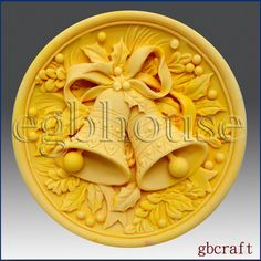 2D Silicone Soap Mold  Christmas Jingle Bells  free by egbhouse, $28.00