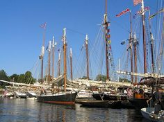 Wouldn't you just love to be in Camden, Maine on Labor Day weekend for the Camden Windjammer Festival!