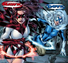 Hawk & Dove in Blackest Night: Titans vol 1 Dc Comics Girls, Dc Comics Art, Marvel Comics, Make A Comic Book, Comic Books, Legion Of Superheroes, Dc Cosplay, Comic Reviews, Female Hero