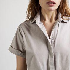 Everlane - The Poplin Short-Sleeve Collar $50