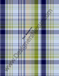 009- -plaid fashion textile swatch blue-green colorway