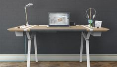 Clear the Clutter: Modular Desk for the Storage-Obsessed, via Dornob.com