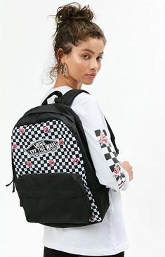 8209c82036 Black   White Realm Backpack Vans Backpack