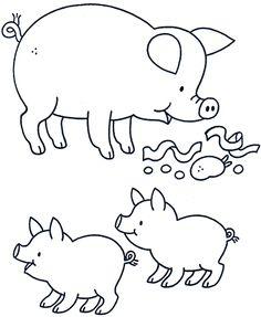 Dibujos de cerdos para imprimir - Imagui