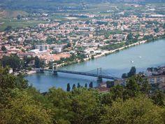 The Rhone at Tournon north of Valence (Ardèche / Drôme)